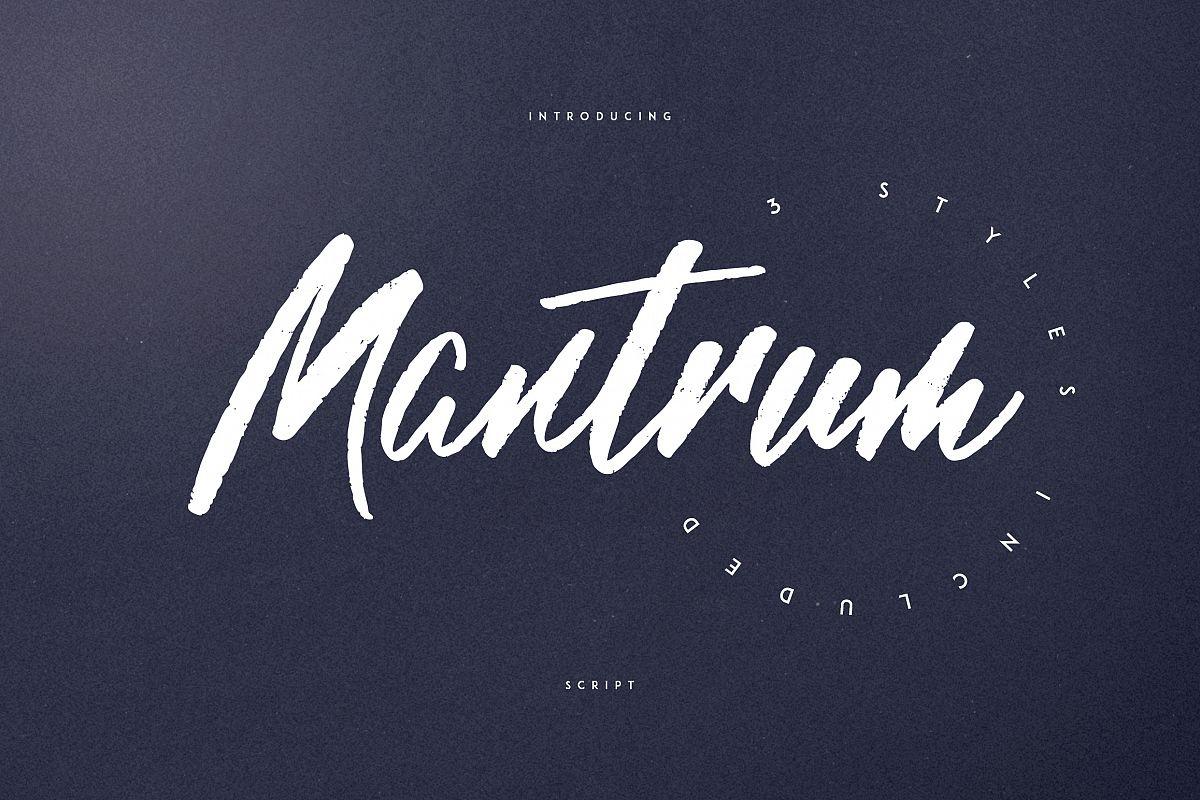 Mantrum - Urban script | 3 styles example image 1