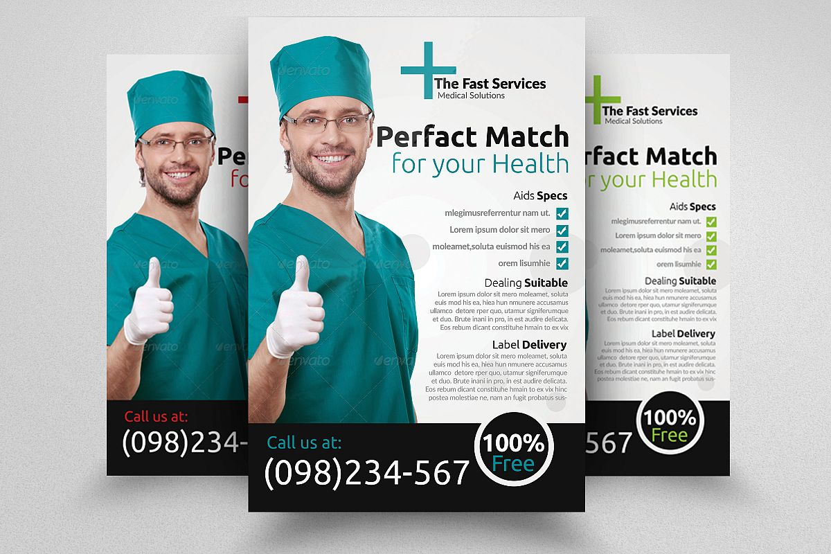 Health & Medical Doctors Flyer example image 1