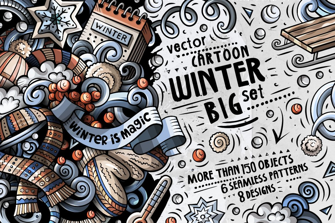 Winter Doodle Big Pack example image 1