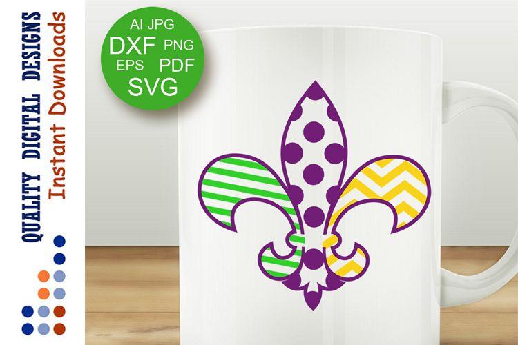 Mardi Gras Fleur De Lis sign svg Joker example image 1