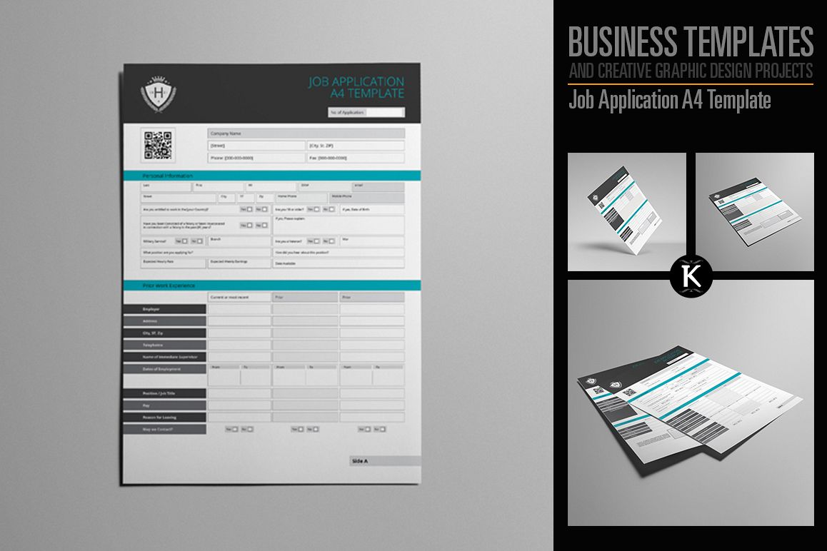 Job Application A4 Template example image 1