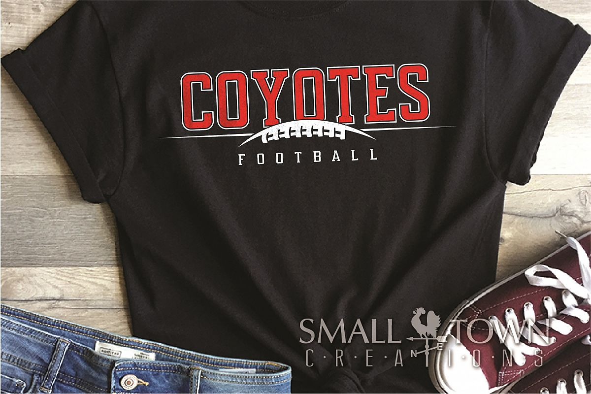 Coyote, Football Team, Logo, Sport, PRINT, CUT & DESIGN example image 1