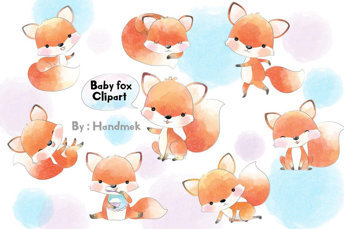 Fox baby. Clipart