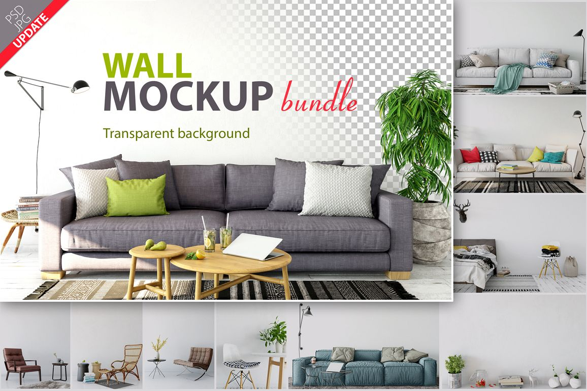 Wall Mockup - Bundle Vol. 1 example image 1