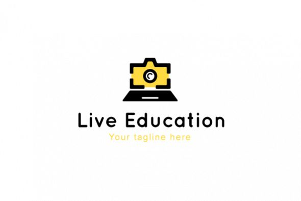 Live Education - Online Learning Tools Stock Logo Template example image 1