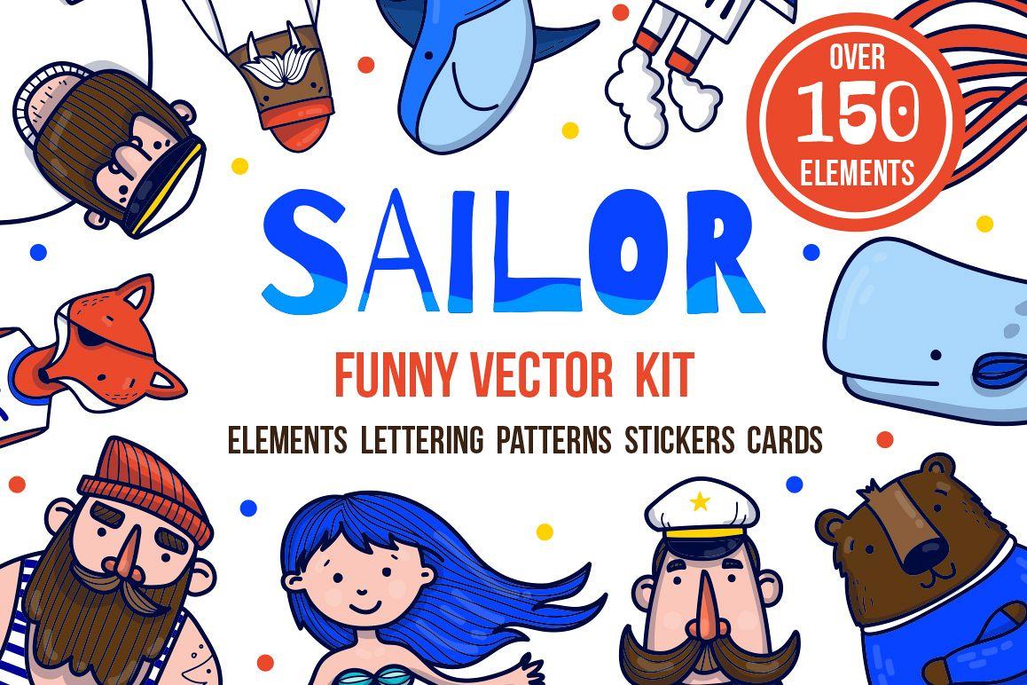 Sailor - nautical vector kit example image 1