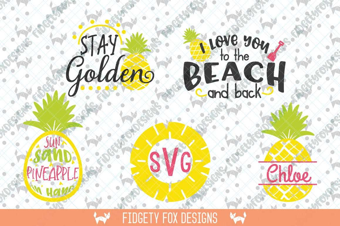 Pineapple SVG Monogram Bundle, Clipart Summer Svg  Svg Files for Cricut and  Silhouette machines, Summer Beach Svg Bundle, Aloha Beach svg