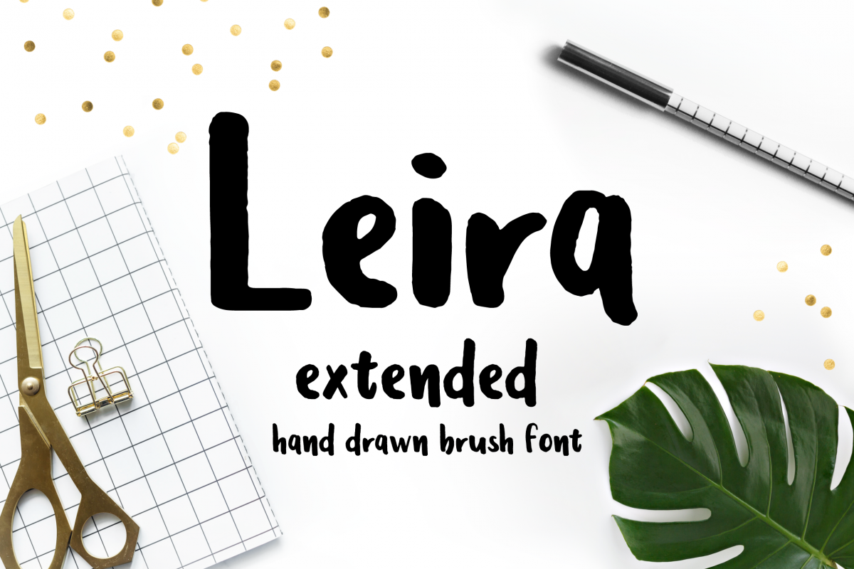 Leira Extended Hand Drawn Brush Font example image 1