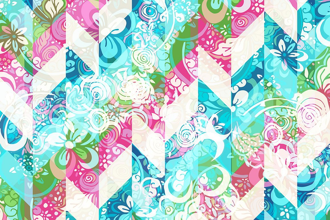 Summer Floral Wallpaper