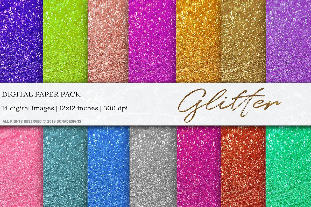 Wedding Glitter Digital Papers, Glitter Background, Glitter example image 1