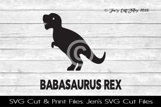 Babasaurus Rex SVG Cut File example image 1