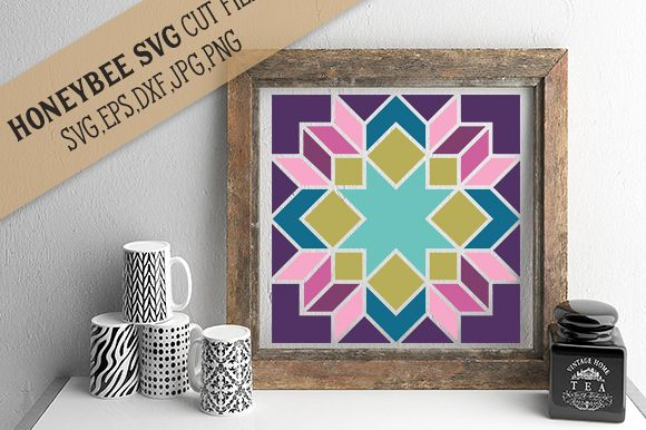 Abigail Barn Quilt cut file example image 1