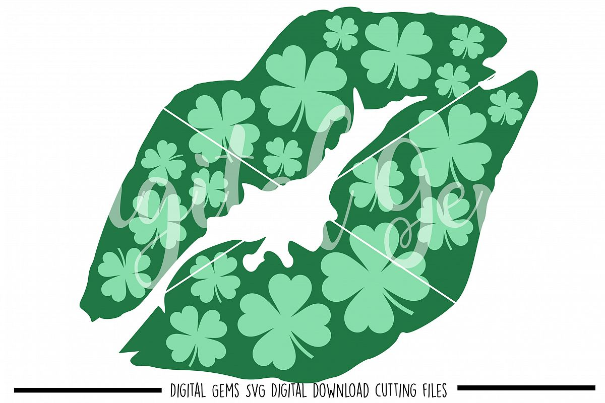 St Patrick's Day lip SVG / PNG / EPS / DXF Files example image 1