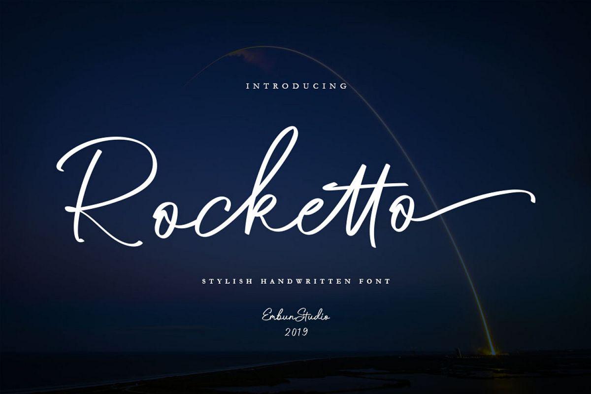 Rocketo Stylish Handwritten example image 1