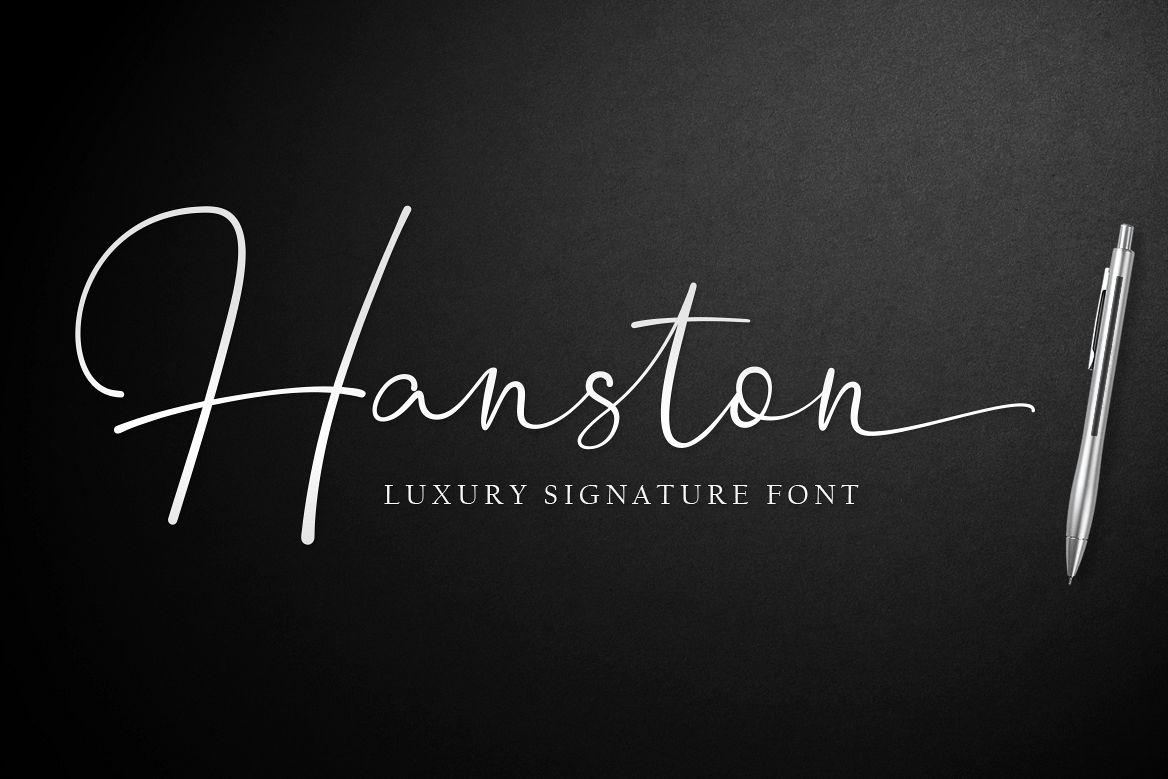 Hanston | Luxury Signature Font example image 1