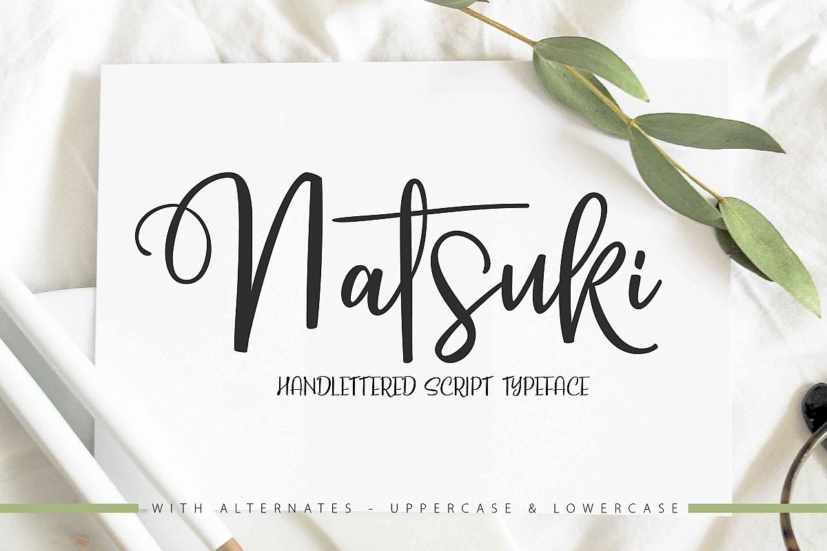 NATSUKI - Handlettered Script example image 1