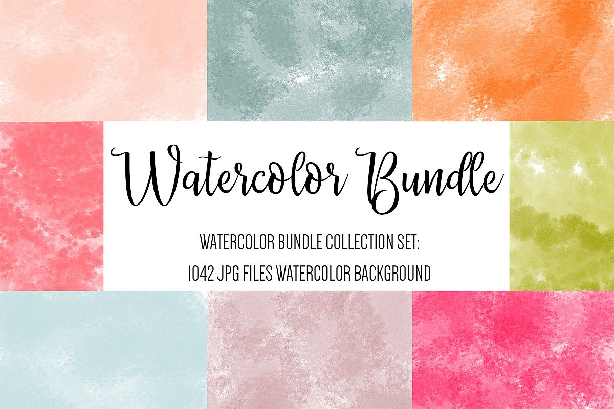 Watercolor Background, Watercolor Texture, Watercolor Papers example image 1