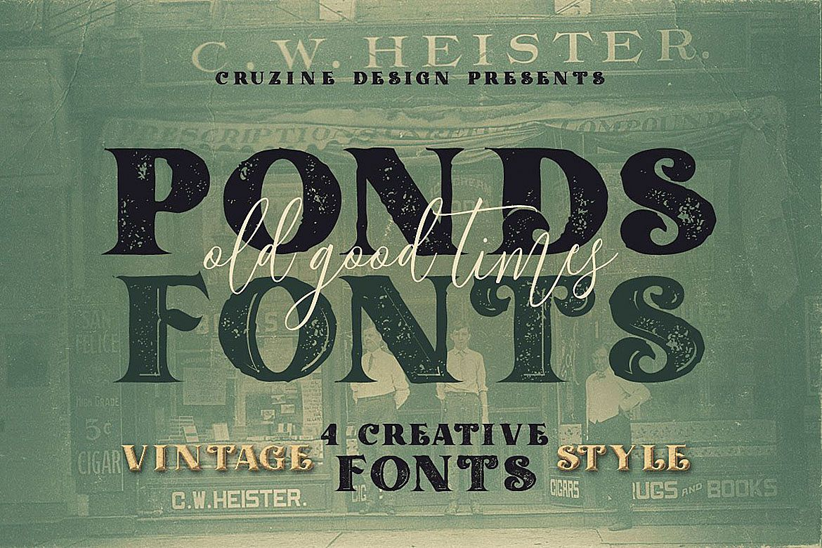 Ponds Typeface example image 1