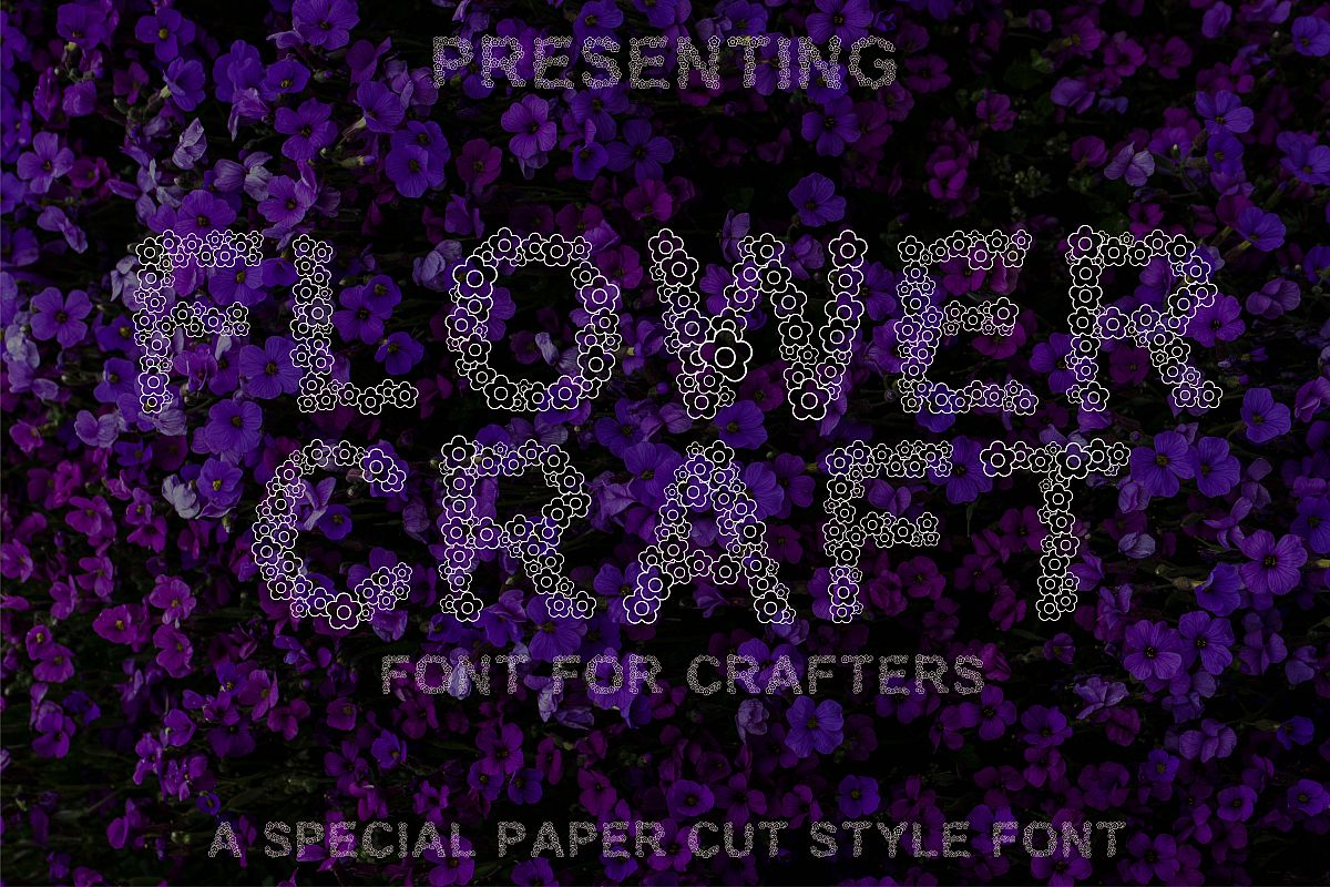 Flower Craft - Alphabets Flower Font For Crafters example image 1