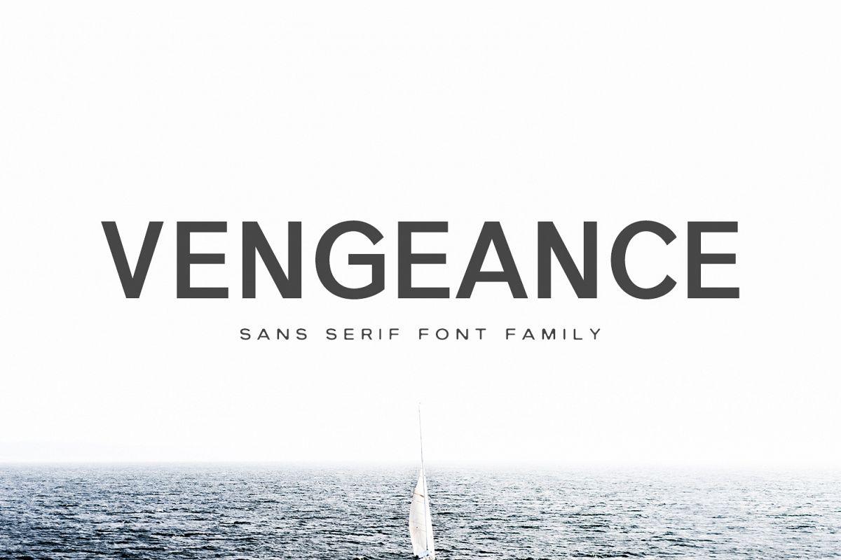 Vengeance Sans Serif Typeface example image 1