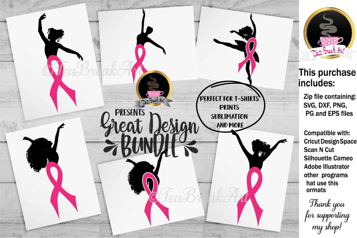 Breast Cancer Awareness Cutting Files 1084 example image 1