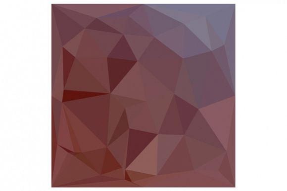 Indian Red Abstract Low Polygon Background example image 1