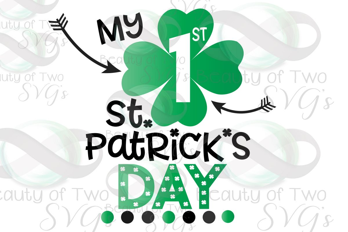 My First St Patricks Day Svg & Png, Baby St Patricks svg example image 1