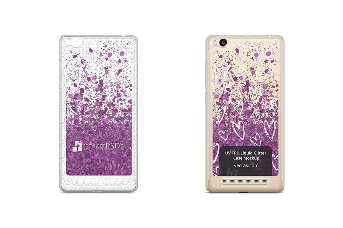 LG K10 2017 UV TPU Liquid Glitter Case Design Mock-up example image 1