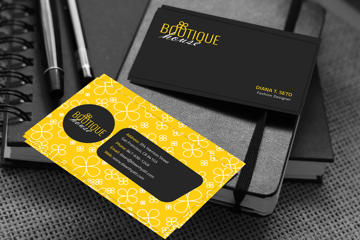 Boutique House Business Card example image 1