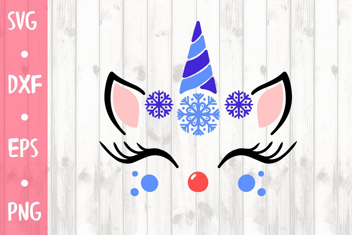 CUTE WINTER UNICORN SVG CUT FILE example image 1