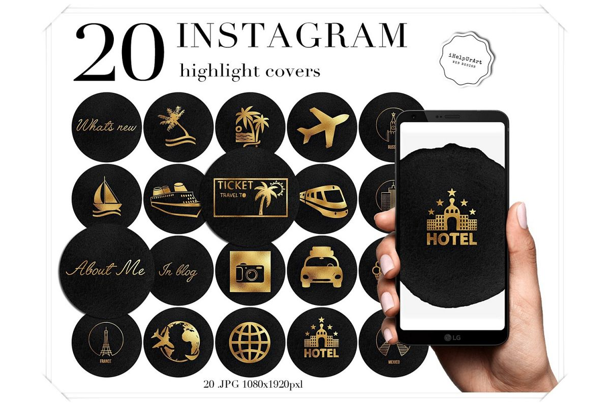 Travel Instagram Story Highlight Covers example image 1
