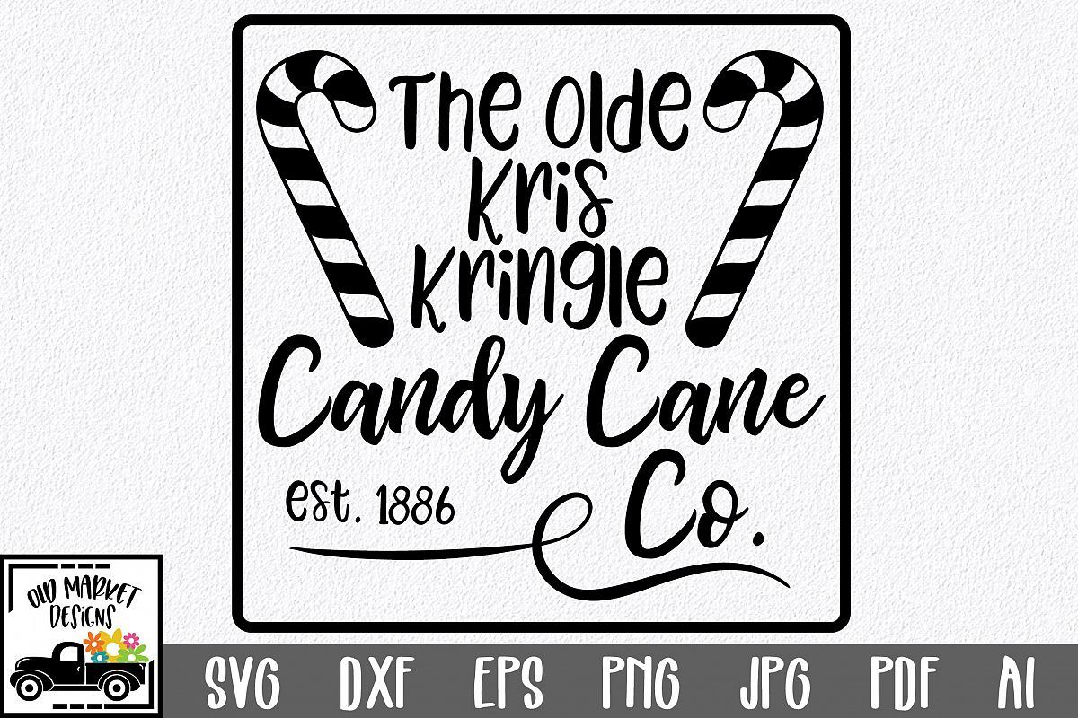 Christmas SVG Cut File - Candy Cane Co. SVG DXF PNG EPS JPG example image 1
