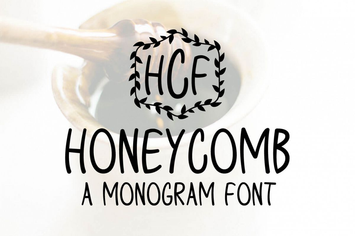 Honeycomb - A Monogram Font example image 1
