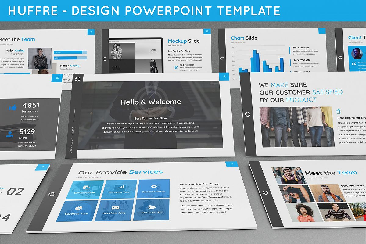 Huffre - Design Powerpoint Template example image 1