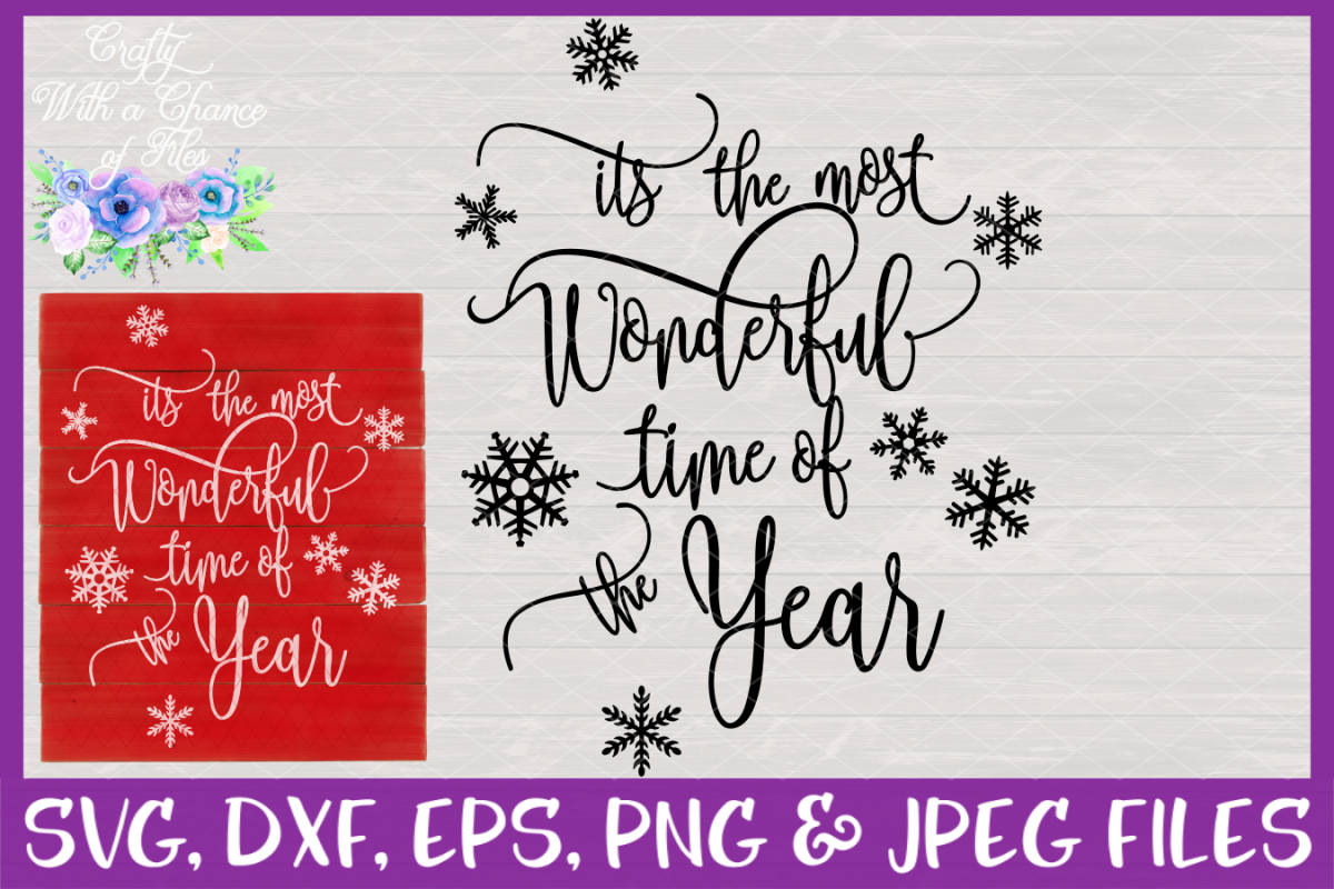 The Most Wonderful Time Of The Year SVG - Christmas Design example image 1