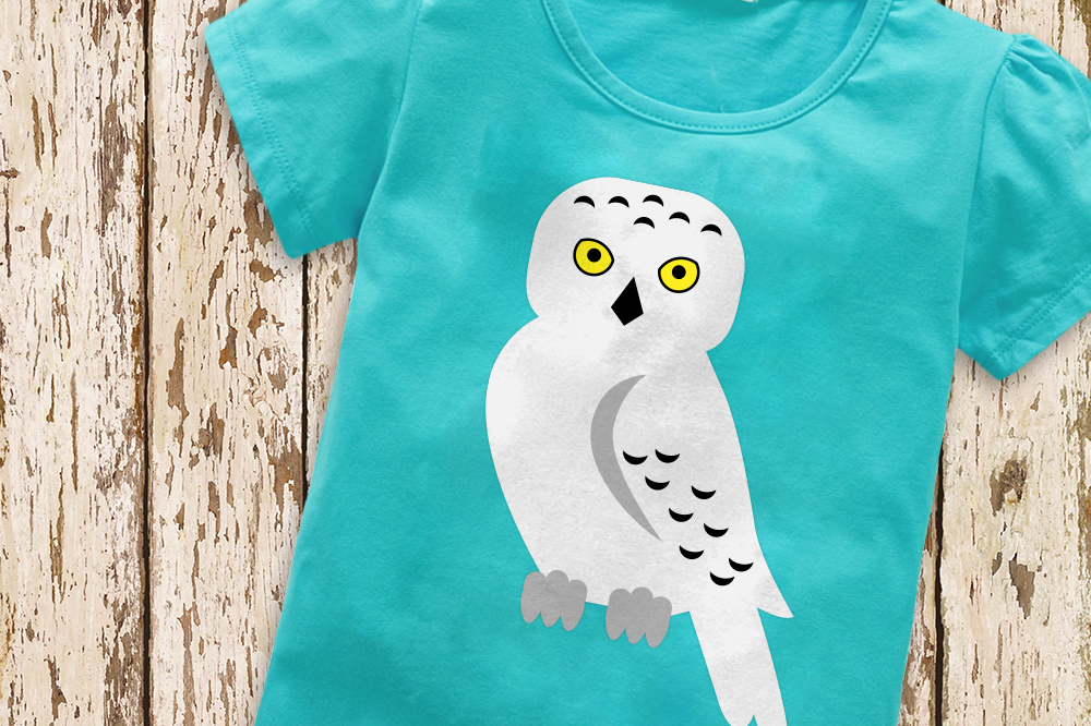 Snowy Owl Svg File Cutting Template Example Image 1