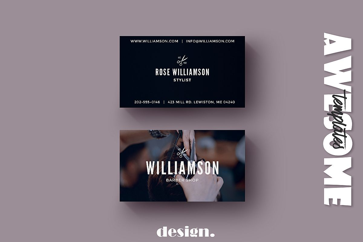 Barber Shop Business Card example image 1