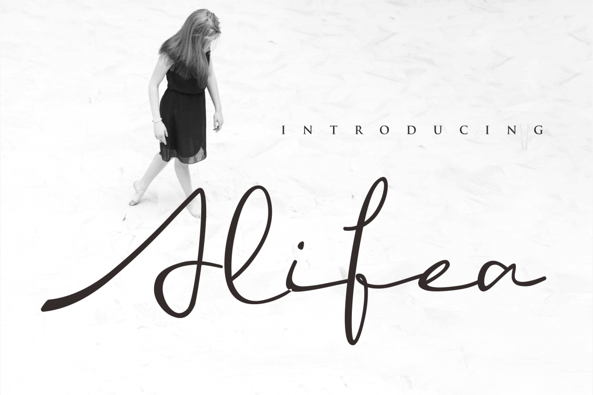 ALIFEA   signature font example image 1