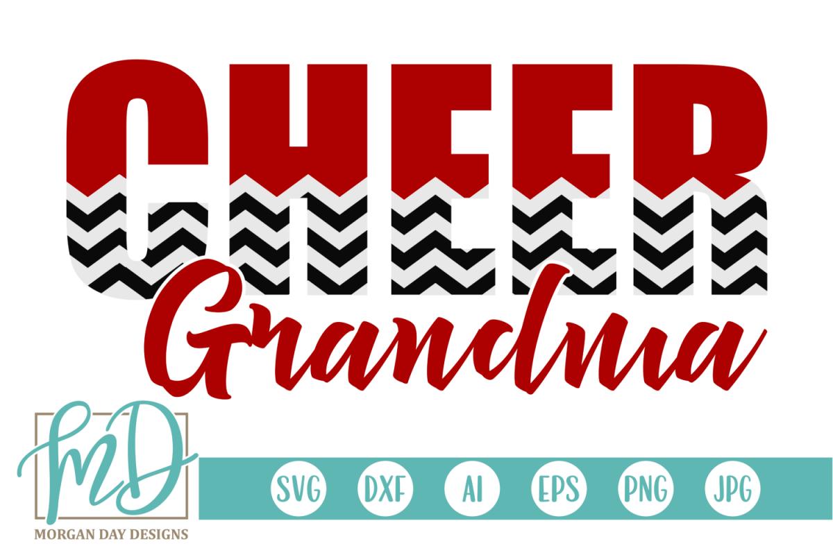 Cheer Grandma - Cheerleader SVG, DXF, AI, EPS, PNG, JPEG example image 1