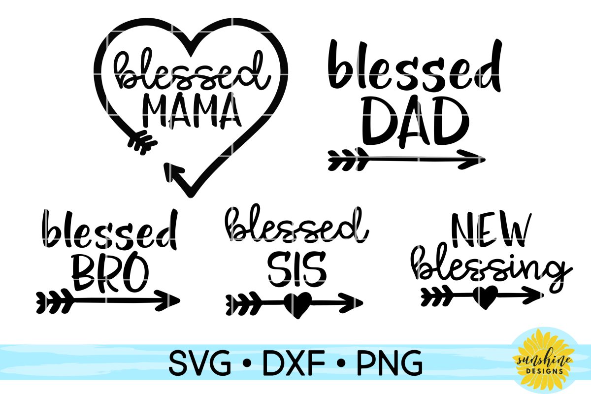 Family Shirts Bundle Svg Dxf Png Blessed Family