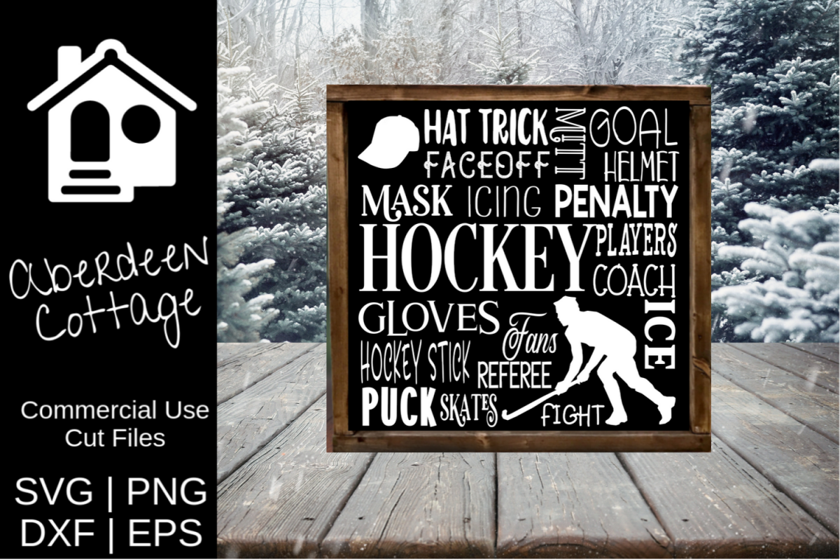 Hockey Expressions SVG Design example image 1