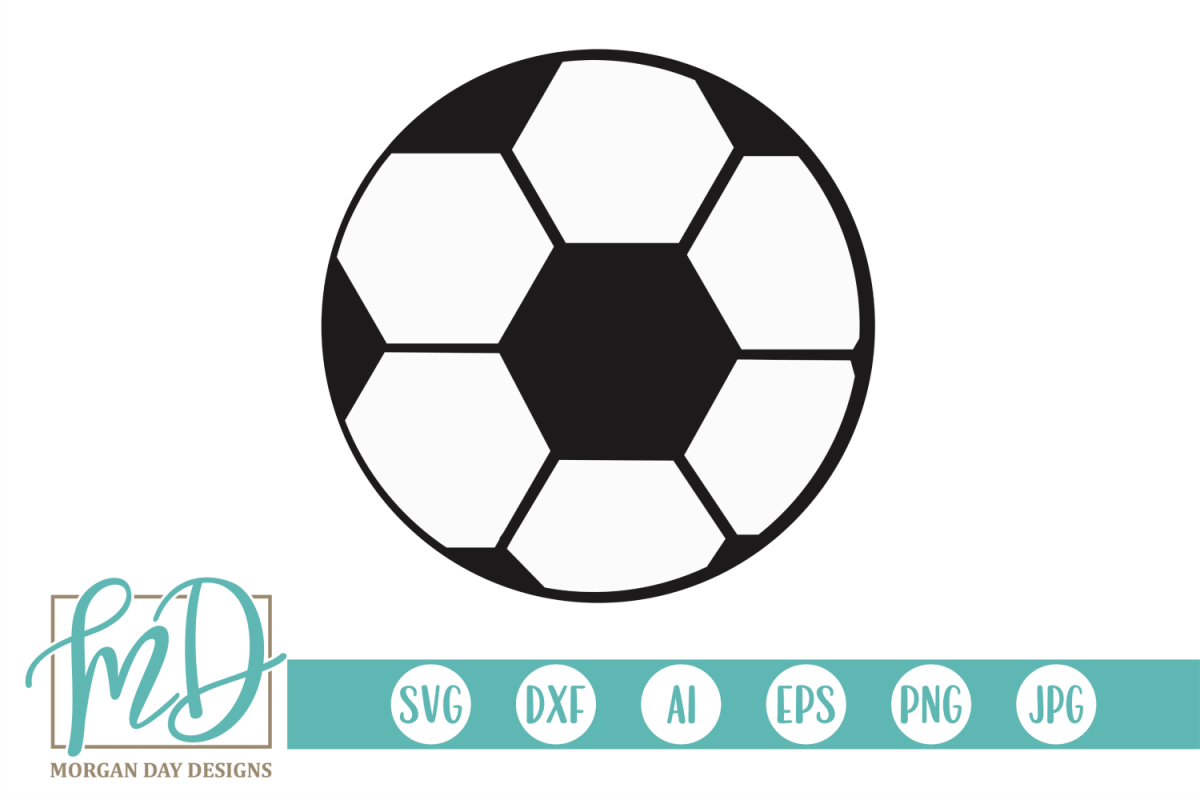 Soccer Ball SVG, DXF, AI, EPS, PNG, JPEG example image 1