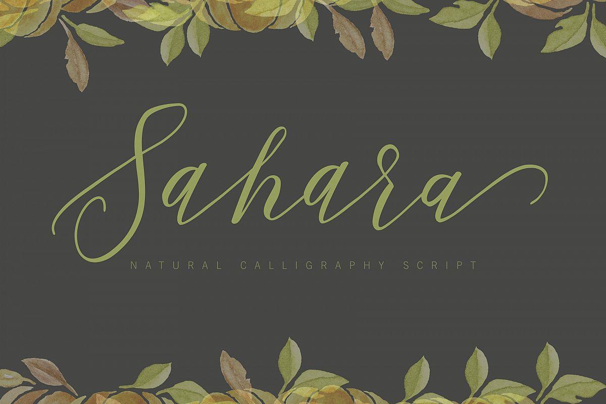 Sahara Script example image