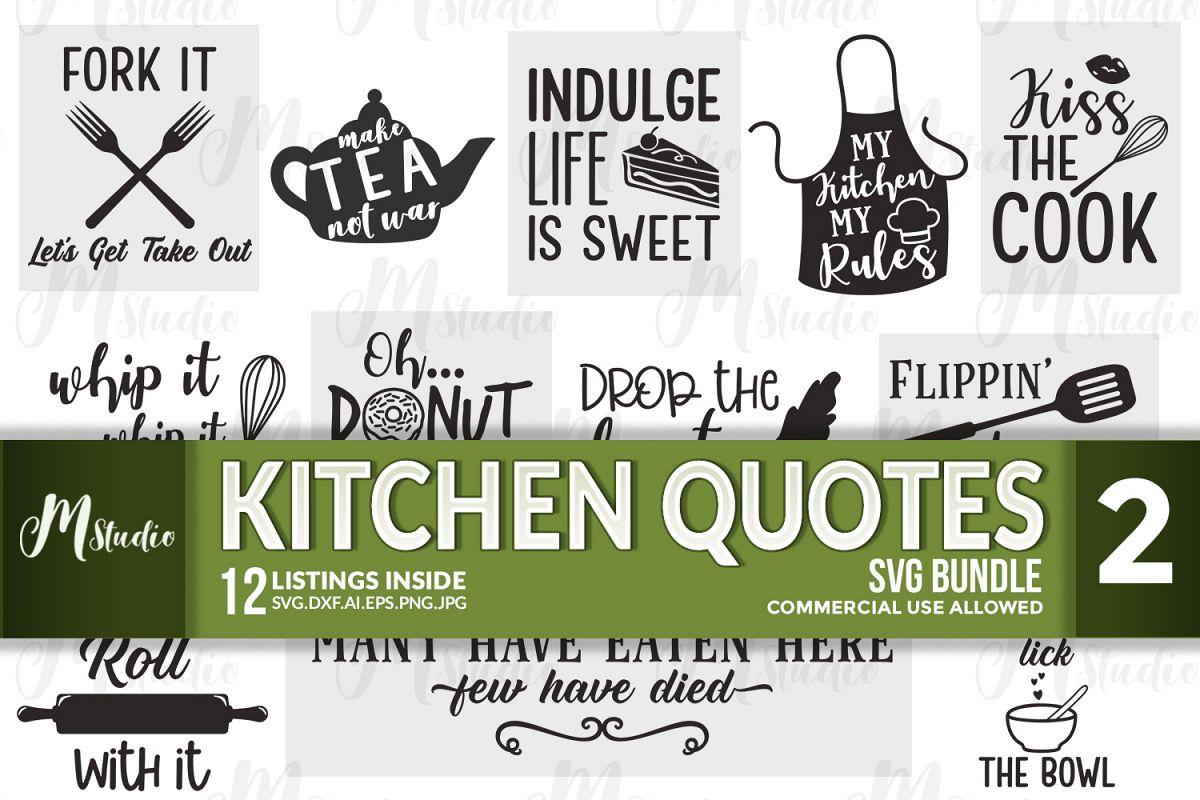 Kitchen Quotes svg bundle - 2 example image 1