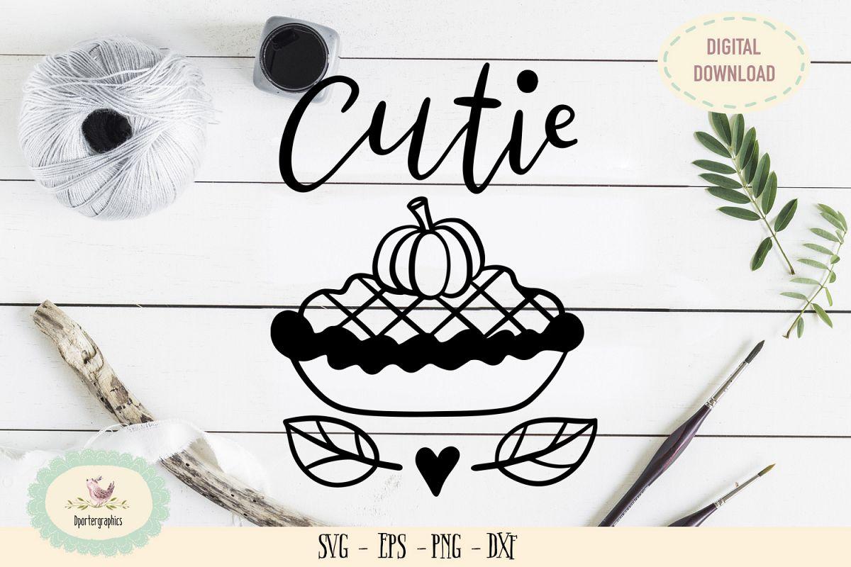 Cutie pie halloween pumpkin SVG PNG example image 1