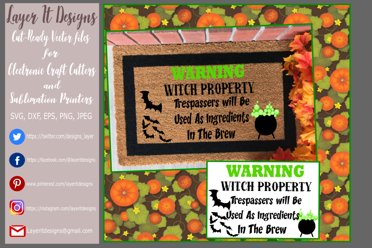 Halloween warning sign Design file example image 1