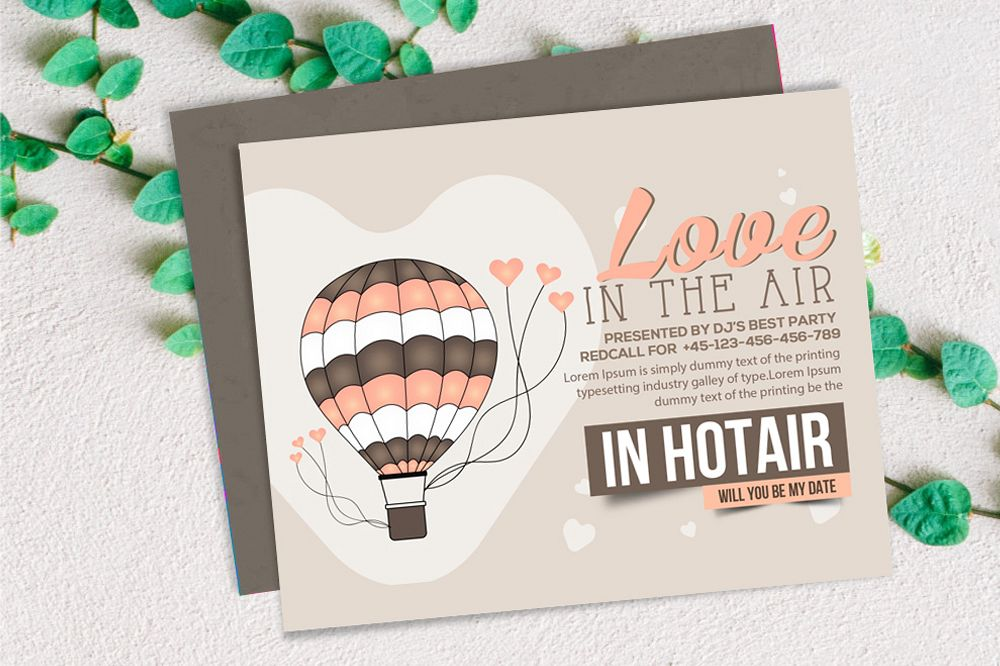 Valentine Love Card Template example image 1