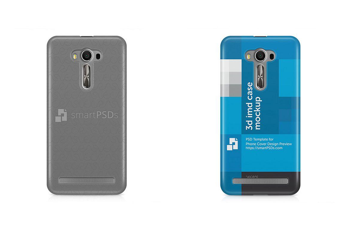 Zenfone 2 Laser ZE500KL 3d IMD Mobile Case Design Mockup 2015 example image 1