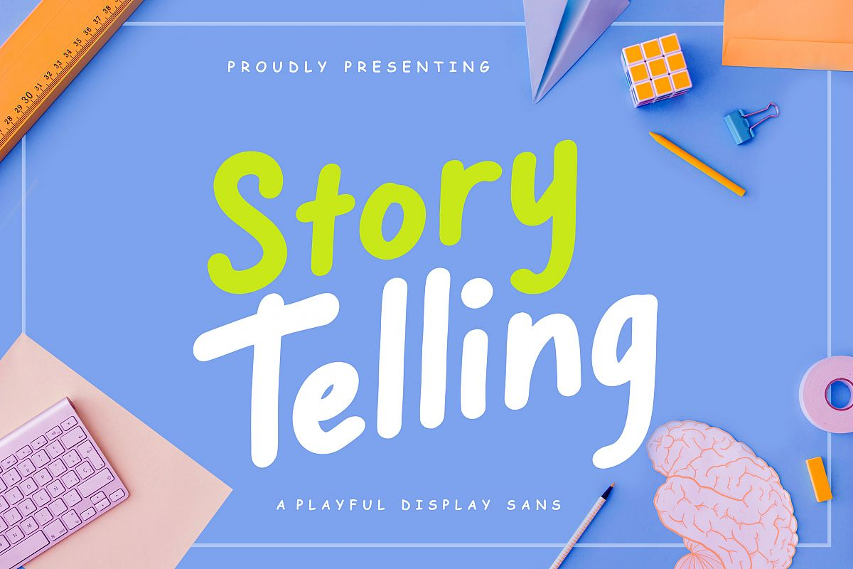 Story Telling Fun Font example image 1