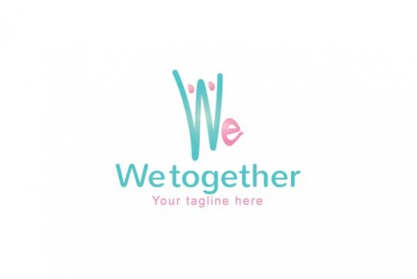 We Together Stock Logo Template example image 1